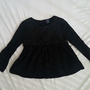 KIDS BUBDLE baby gap top with floral trim bodice